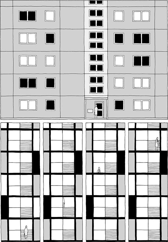 Ein Mann geht an die Decke | Seite 03 | © Katharina Greve
