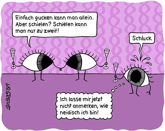 Cartoon | Augen | © Katharina Greve