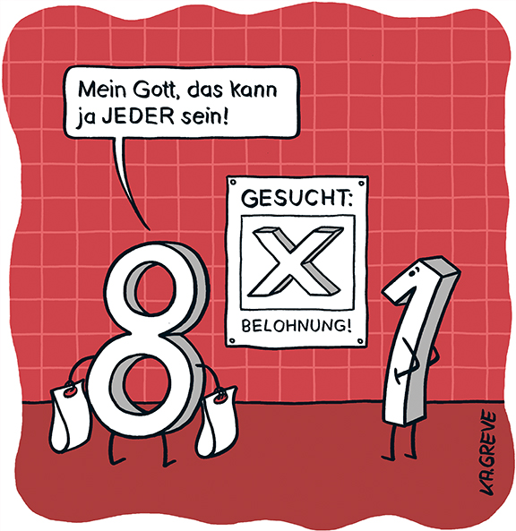 Cartoon | Mathe | © Katharina Greve