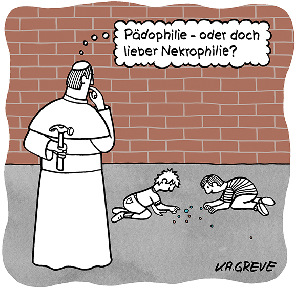 Cartoon | Pädophilie | © Katharina Greve