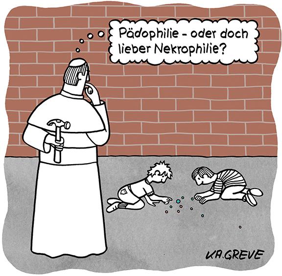Cartoon | Pädophilie | © Katharina Greve