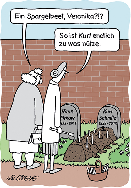 Cartoon | Spargel | © Katharina Greve