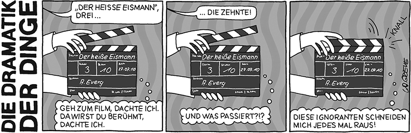 Die Dramatik der Dinge | Filmklappe | © Katharina Greve