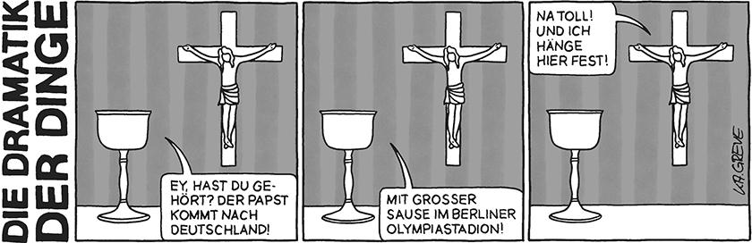 Die Dramatik der Dinge | Papstbesuch | © Katharina Greve