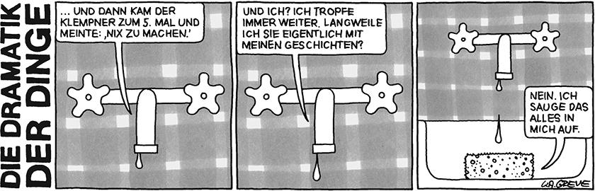 Die Dramatik der Dinge | Wasserhahn | © Katharina Greve