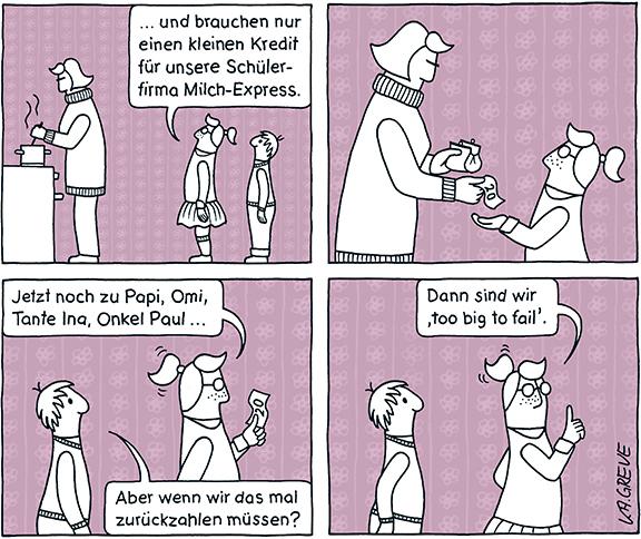 Comic-Strip | Schulden | © Katharina Greve