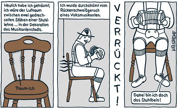 Comic-Strip | Stuhllehne | © Katharina Greve