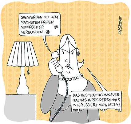 Cartoon | Freie Mitarbeiter | © Katharina Greve