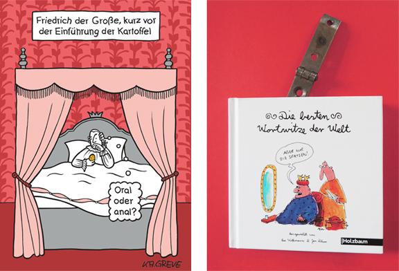 Die besten Wortwitze der Welt | Friedrich + Cover | © Katharina Greve