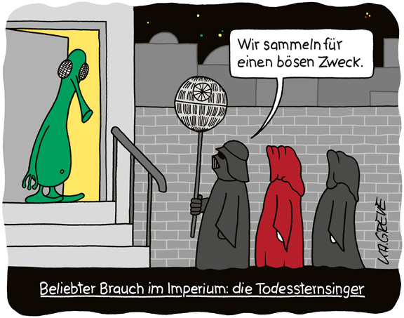 Cartoon | Star Wars: Todessternsinger | © Katharina Greve