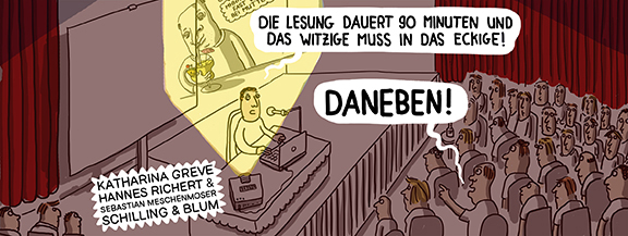 Programm-Tipp | Cartoon-Lesung Villa Neukölln | © Hannes Richert