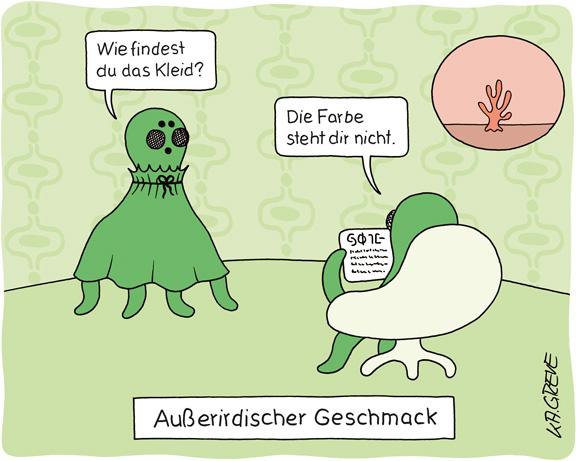 Cartoon | Außerirdischer Geschmack | © Katharina Greve