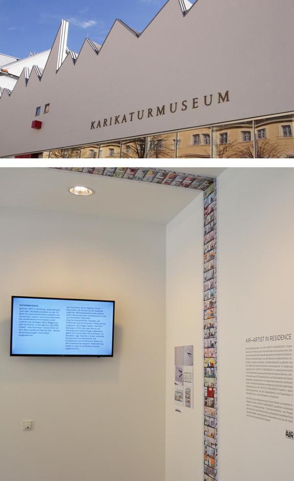DAS HOCHHAUS | Ausstellung Krems | © Karikaturmuseum Krems 2017