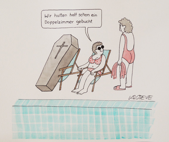 Cartoon | All Inclusive | © Katharina Greve