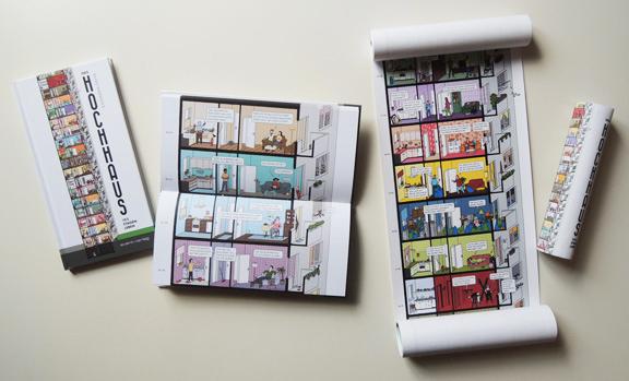 DAS HOCHHAUS | Buch + Buchrolle | © Katharina Greve