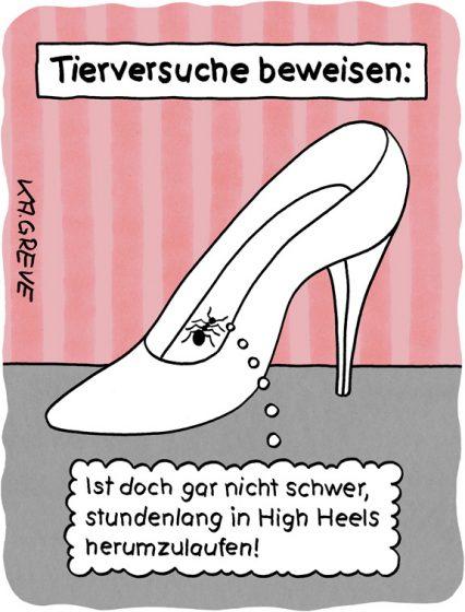 Cartoon | Tierversuch | © Katharina Greve