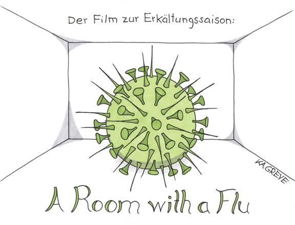 Cartoon | Erkältungssaison | © Katharina Greve