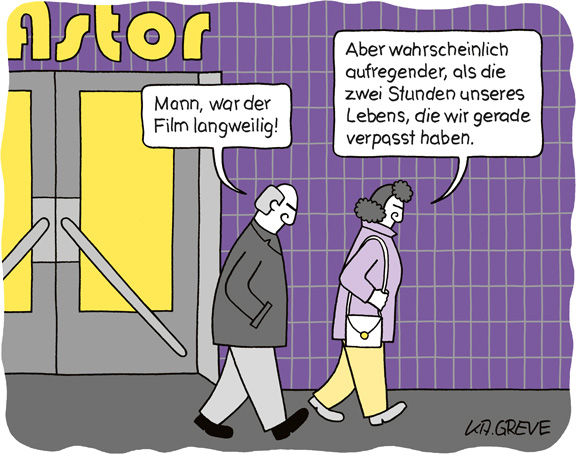Cartoon | langweiliger Film | © Katharina Greve