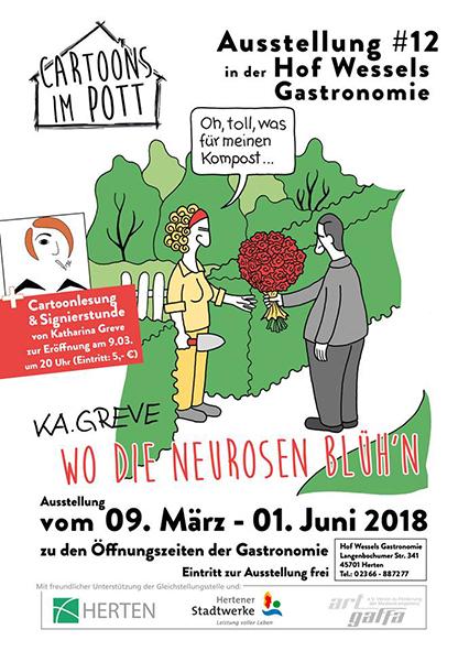 Ausstellung | Cartoons im Pott | © Katharina Greve & Michael Holtschulte