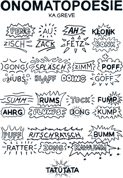 Cartoon | Onomatopoesie | © Katharina Greve