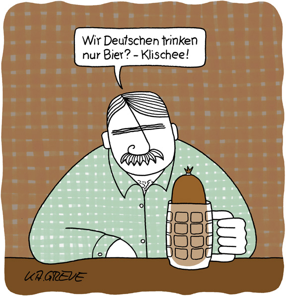 Cartoon | Bier | © Katharina Greve