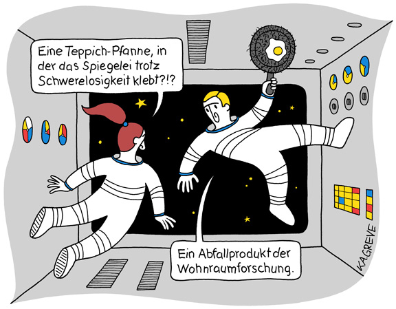 Cartoon | Teppich-Pfanne | © Katharina Greve