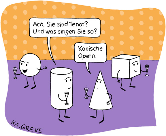Cartoon | Konische Oper | © Katharina Greve