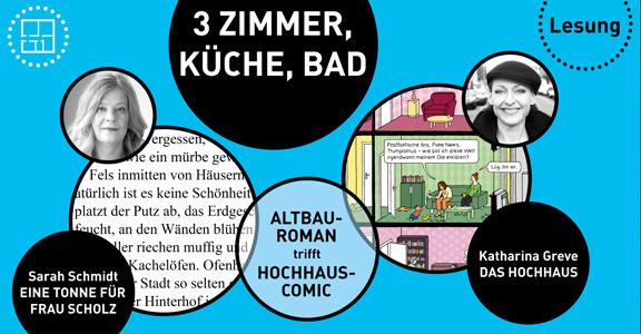 Lesung | 3 Zimmer, Küche, Bad | © Katharina Greve