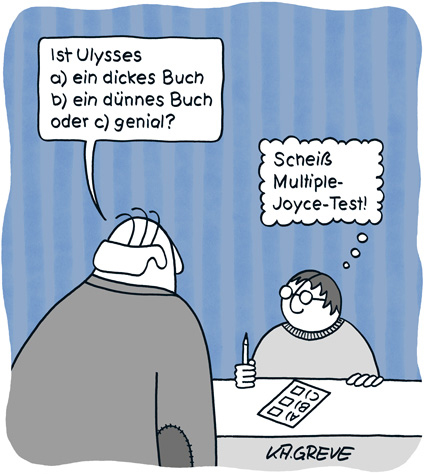 Cartoon | Multiple Joyce | © Katharina Greve