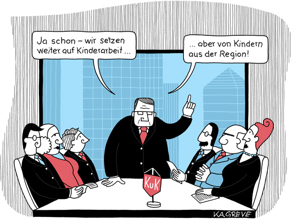 Cartoon | Kinderarbeit | © Katharina Greve