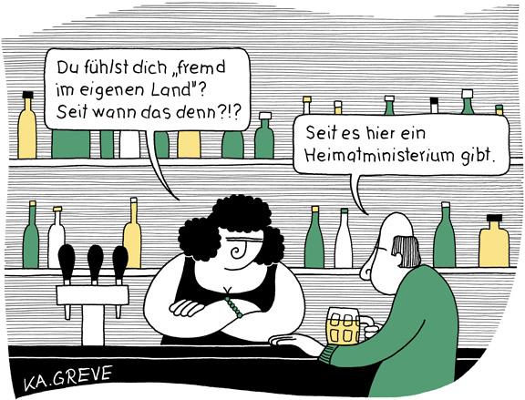 Cartoon | Heimatministerium | © Katharina Greve