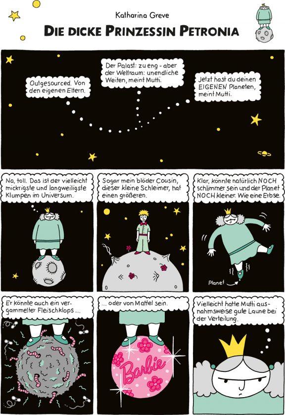 Comic-Strip | Prinzessin Petronia | Folge 1 | © Katharina Greve