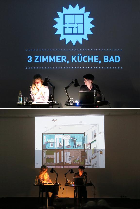 Lesung | 3 Zimmer, Küche, Bad | Literaturhaus Berlin | © Marcus Müller