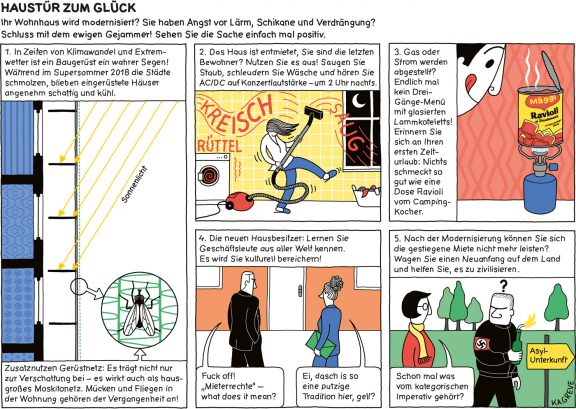 Comic-Strip | Haustür zum Glück | © Katharina Greve