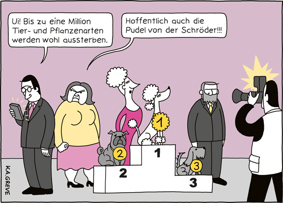 Cartoon | Artensterben | © Katharina Greve