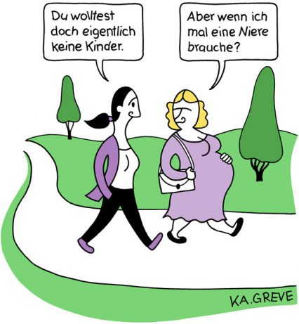 Cartoon | Muttertag | © Katharina Greve