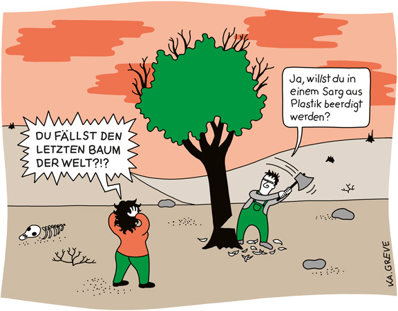 Cartoon | Waldsterben | © Katharina Greve