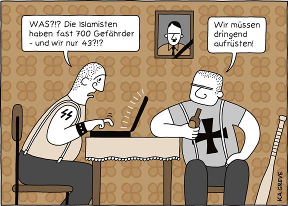 Cartoon | Gefährder | © Katharina Greve