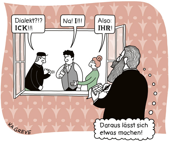 Cartoon | Dialektik | © Katharina Greve