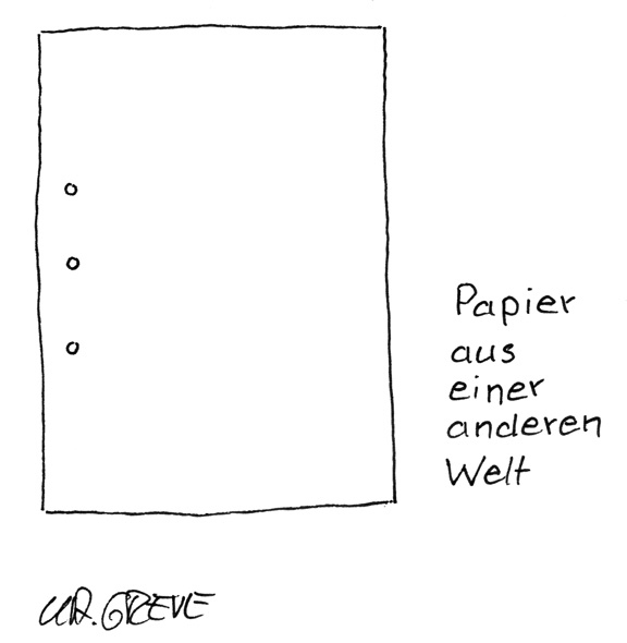 Cartoon | Papier | © Katharina Greve