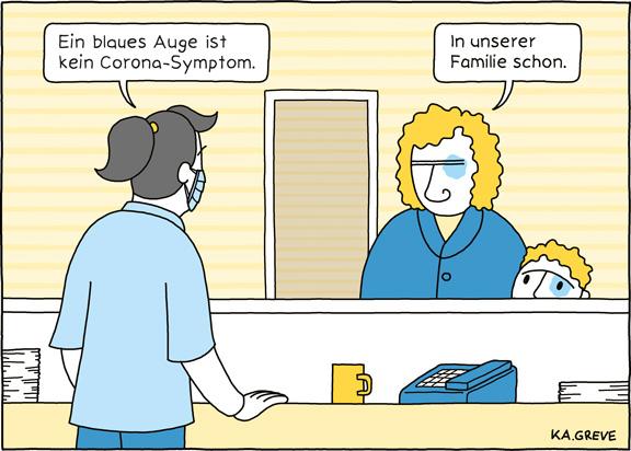 Cartoon | Häusliche Gewalt | © Katharina Greve