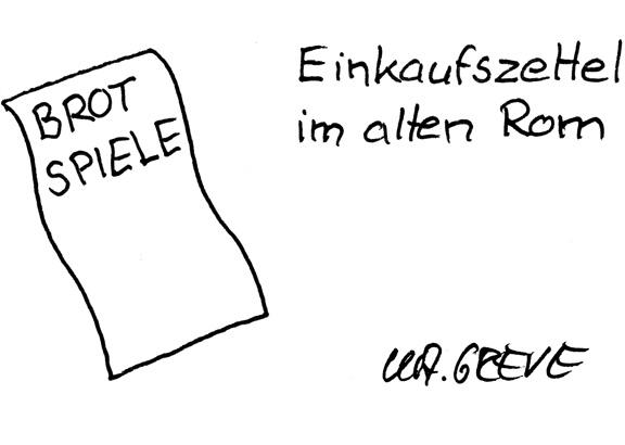 Cartoon | Einkaufszettel | @ Katharina Greve