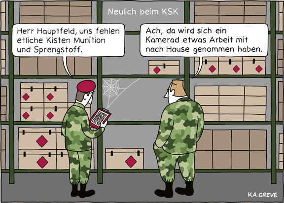 Cartoon | KSK | © Katharina Greve