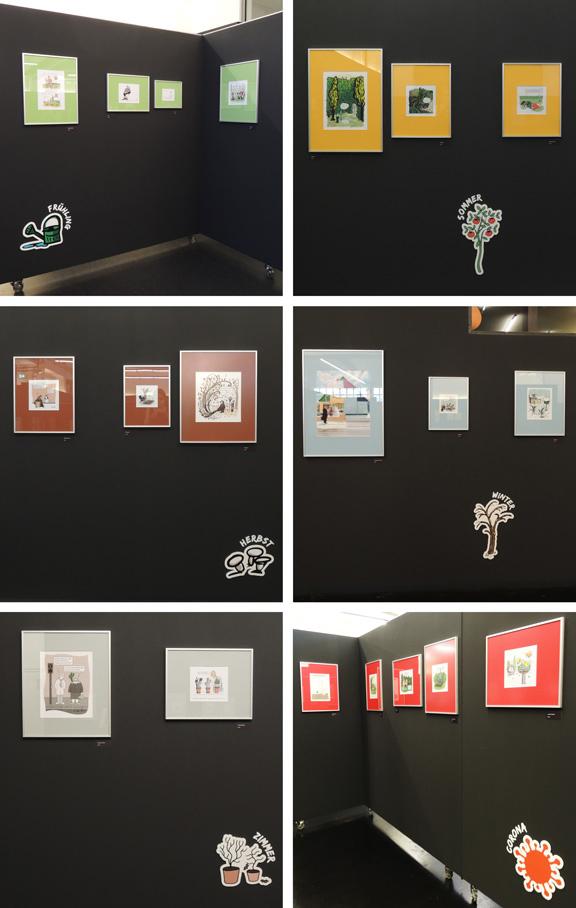 Ausstellung | Caricatura | Unkraut vergeht nicht | © Katharina Greve