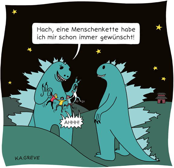 Cartoon | Godzilla | © Katharina Greve