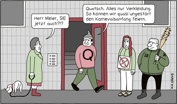 Cartoon | Karnevalsbeginn | © Katharina Greve