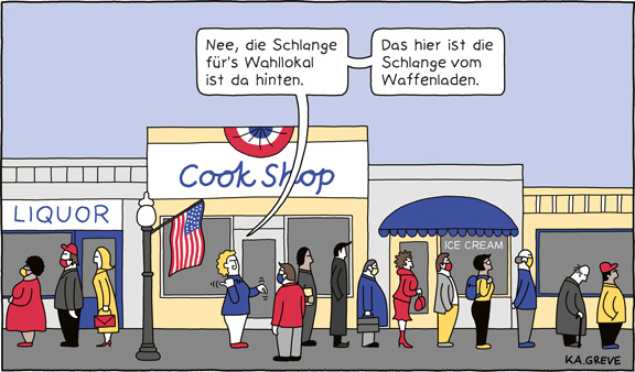 Cartoon | US-Wahlen | © Katharina Greve