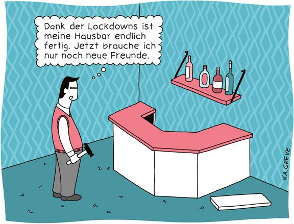 Cartoon | Hausbar | © Katharina Greve