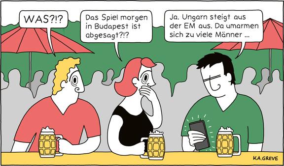 Cartoon | Ungarn + EM | © Katharina Greve