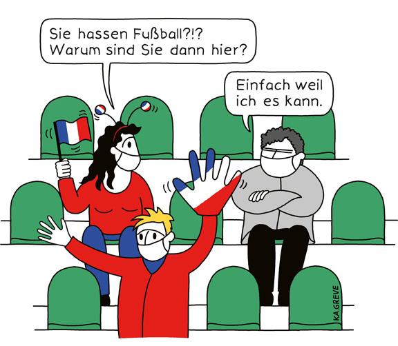 Cartoon | Fußball hassen | © Katharina Greve